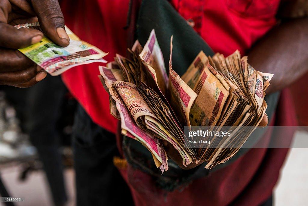 Guinea Economy As President Alpha Conde Seeks Re Election : News Photo