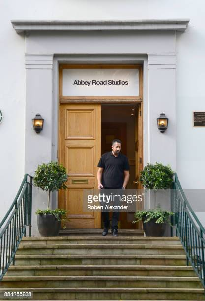 An employee leaves Abbey Road Studios in London, England, formerly known as EMI Studios. The recording studio was established in 1931 by the...