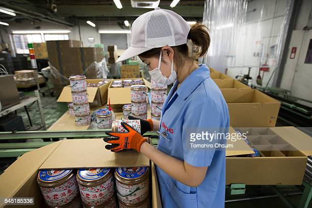 An employee makes a final inspection of a can of mosquito coils at the Kishu Factory of Dainihon Jochugiku Co. Ltd. On July 6, 2016 in Arita, Japan....