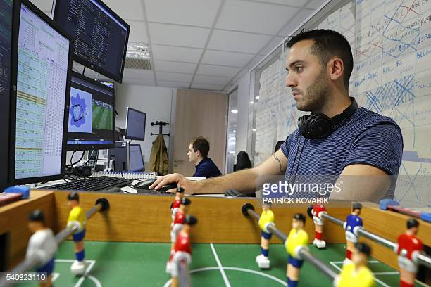 An employee of the online sports betting unit Parions Sports a division of the Francaise des Jeux the operator of France's national lottery games...