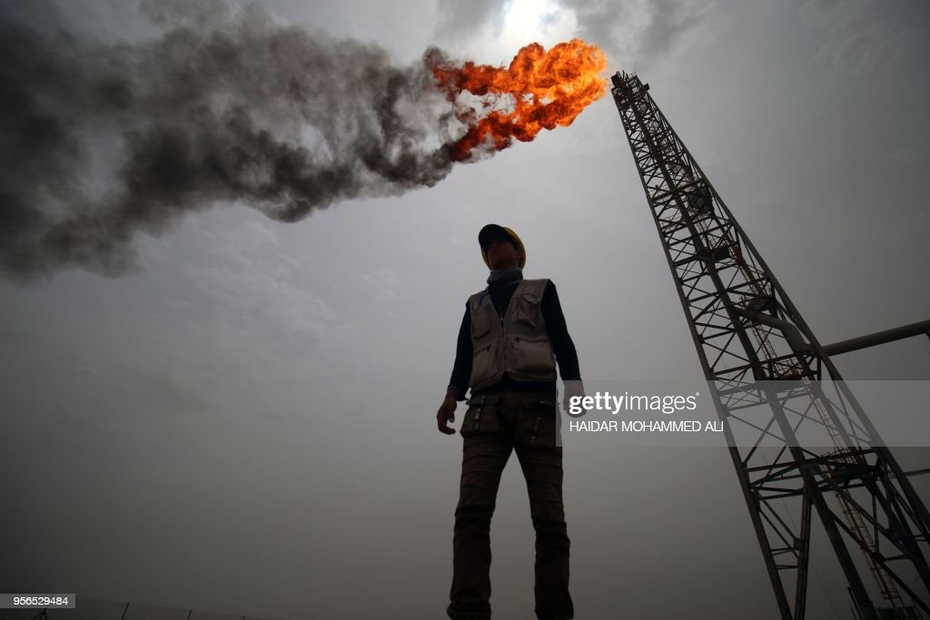 TOPSHOT-IRAQ-OIL-GAS : News Photo