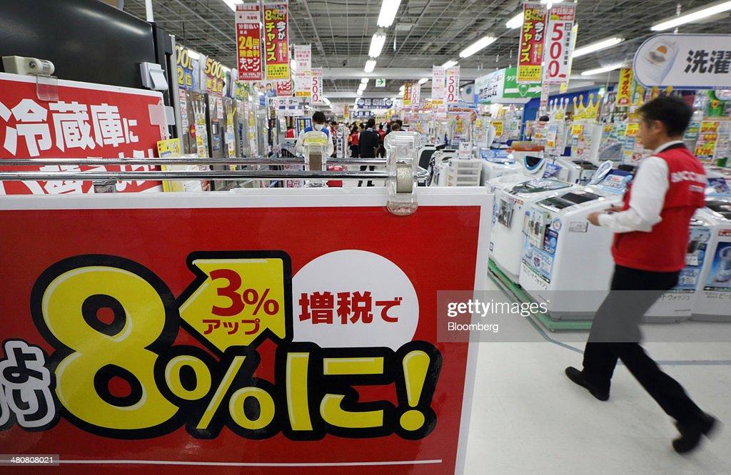Inside A Bic Camera Inc. Electronics Store Ahead Of Sales Tax Hike : News Photo