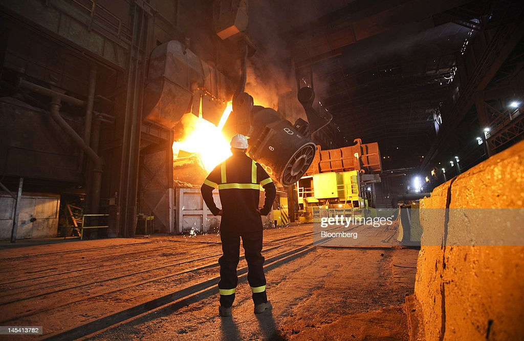 Manufacture At Redcar Steel Works : News Photo