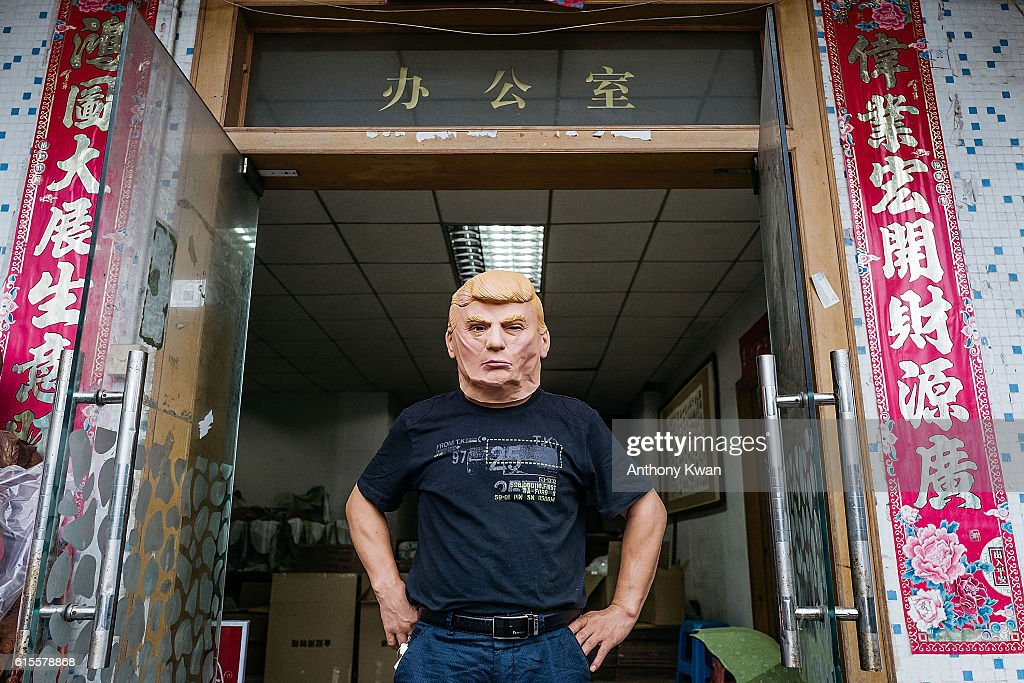 Chinese Factory Produces Donald Trump Masks : News Photo
