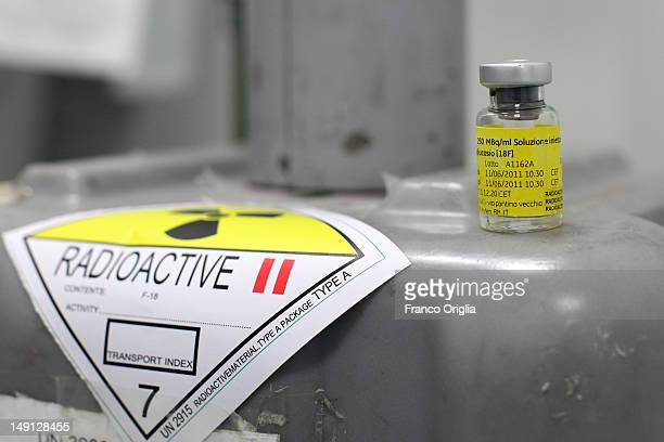 An employee works at the NSA radiopharmaceutical plant on July 08 2011 in Aedea Rome Italy Nuclear Specialists Associated Radiopharmacy preclinical...
