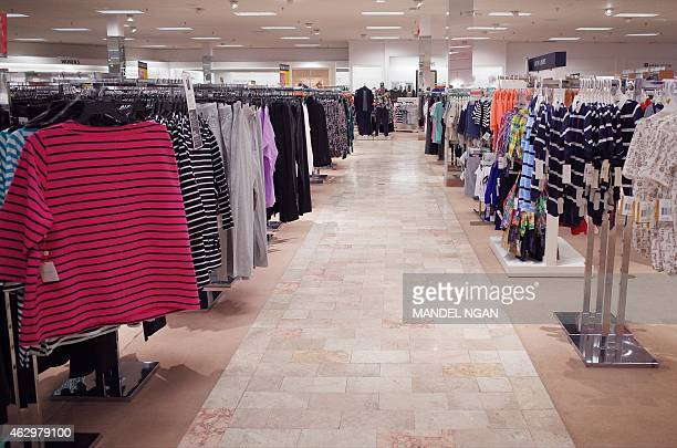 An empty aisle is seen inside the last operating department store at White Flint Mall on February 3 2015 in Kensington Maryland The 'shopping mall'...
