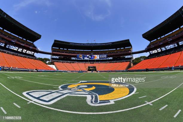 An empty Aloha Stadium before the preseason game between the Dallas Cowboys and the Los Angeles Rams at Aloha Stadium on August 17 2019 in Honolulu...