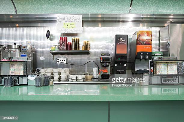 an empty american diner - diner stock pictures, royalty-free photos & images