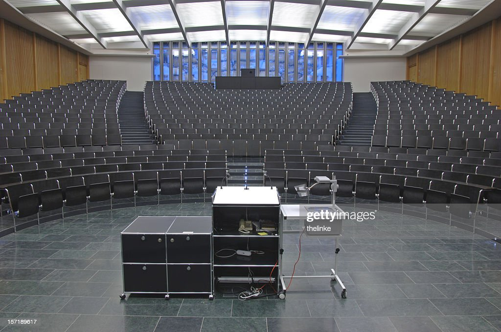 An empty auditorium ready for a class or seminar : Stock Photo