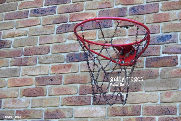 An empty basketball hoop
