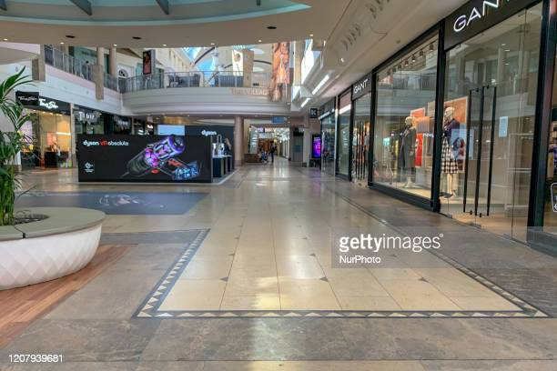 An empty Bluewater Shopping Centre in Kent UK for fears of a potential quarantine due to an outbreak of Coronavirus on March 21 UK