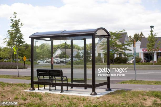 An empty bus stop in Falmouth off of Route 1 The Greater Portland Transit Service's Breez commuter bus is considering dropping the Falmouth loop of...