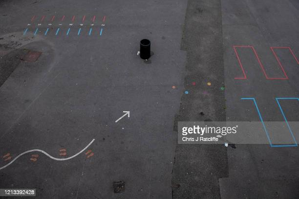 An empty childrens playground at the temporarily closed City of London Acadamy on May 17 2020 in London England The government has said schools in...
