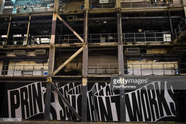 An empty dance floor at Printworks nightclub on October 27, 2020 in London, England.The 5,000-capacity music venue, Printworks, which is housed in...