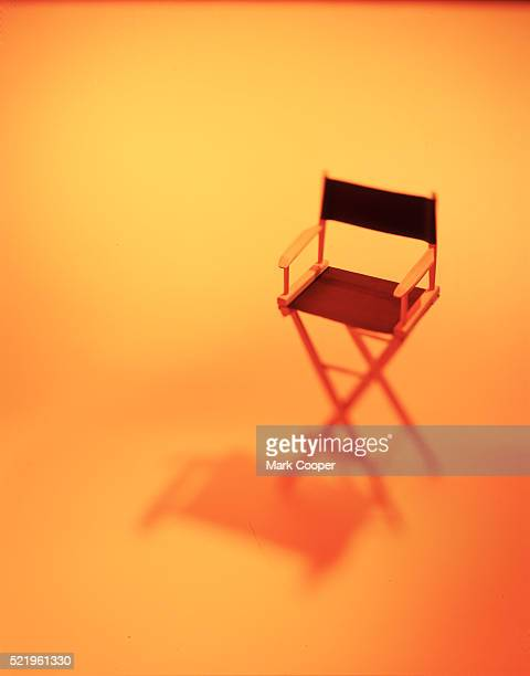 An empty directors chair