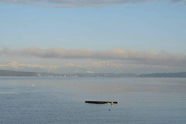 An Empty Dock Floating In The Puget Sound Wall Art
