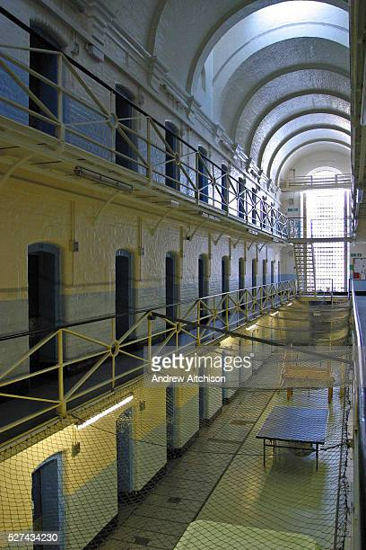 An empty E wing at Wandsworth prison in London. It was emptied of prisoners in 2005 so it could be refurbished. HMP Wandsworth in South West London...
