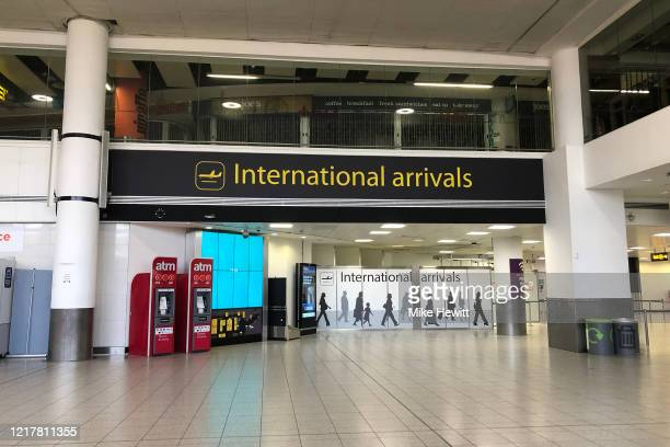 An empty Gatwick south terminal is seen on April 09, 2020 in Gatwick, United Kingdom. There have been around 60,000 reported cases of the COVID-19...