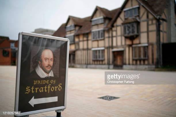 An empty Henley Street, photographed late morning, shows William Shakespeare's Birthplace Museum which has been closed due to Coronavirus safety...