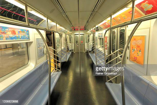 an empty modern subway in the hudson yards station - rainer grosskopf stock pictures, royalty-free photos & images