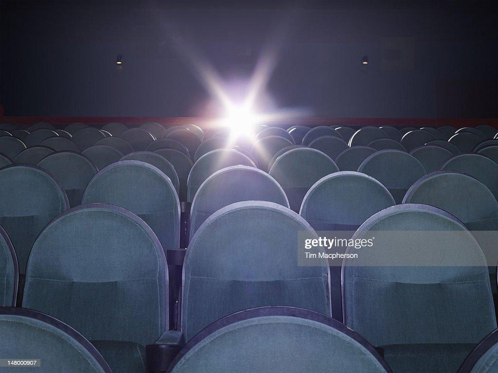 An empty movie theater : Stock Photo
