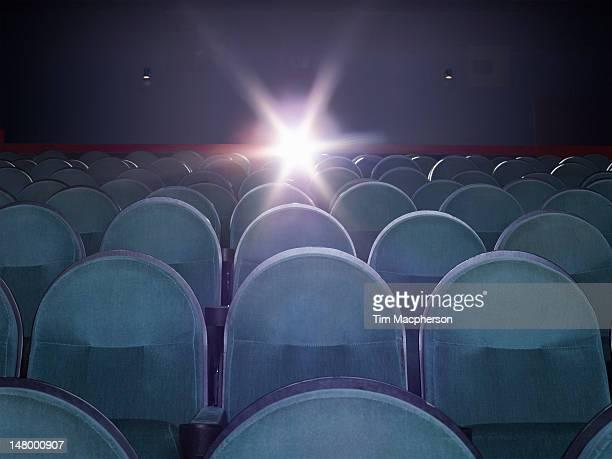 An empty movie theater
