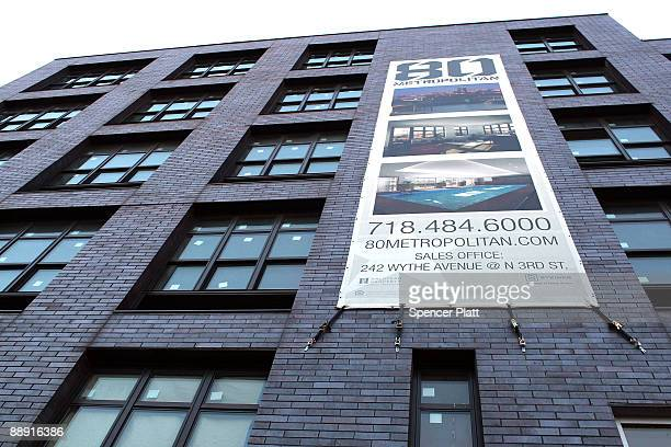An empty new apartment building is shown July 8 2009 in the Brooklyn neighborhood of Williamsburg in New York City Due to the fall in home sales and...