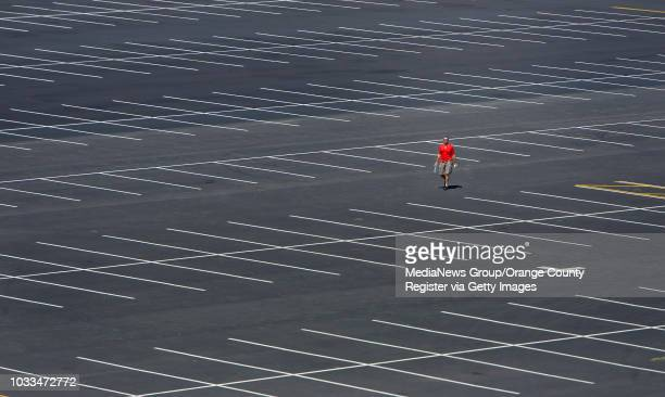 An empty parking lot at Angel Stadium will soon be jam packed with cars during Opening Day Monday INFO Photo by MINDY The Orange County...