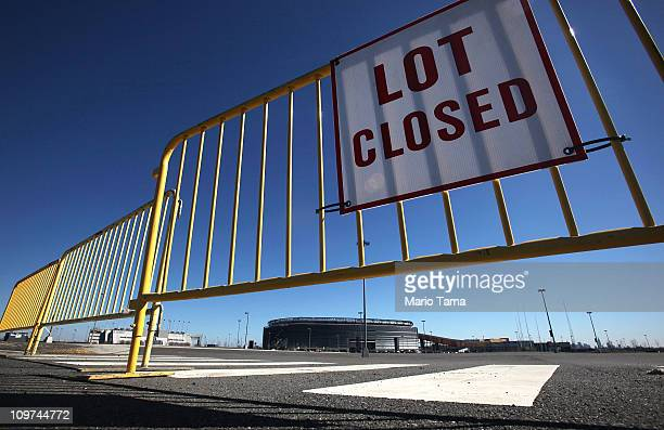 An empty parking lot is seen at New Meadowlands Stadium, home of the NFL's New York Jets and New York Giants, March 3, 2011 in East Rutherford, New...