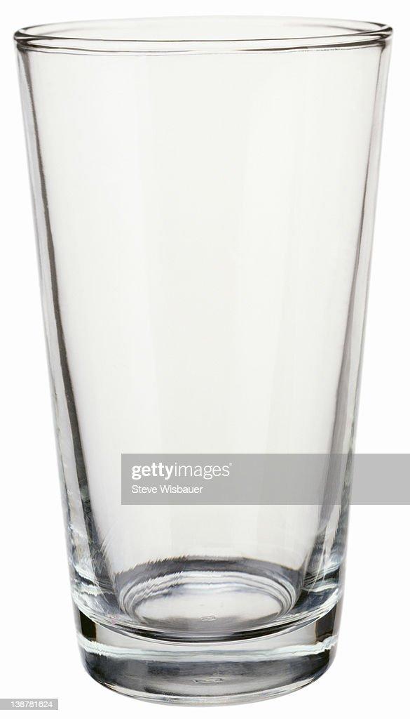 An empty pint drinking glass : ストックフォト