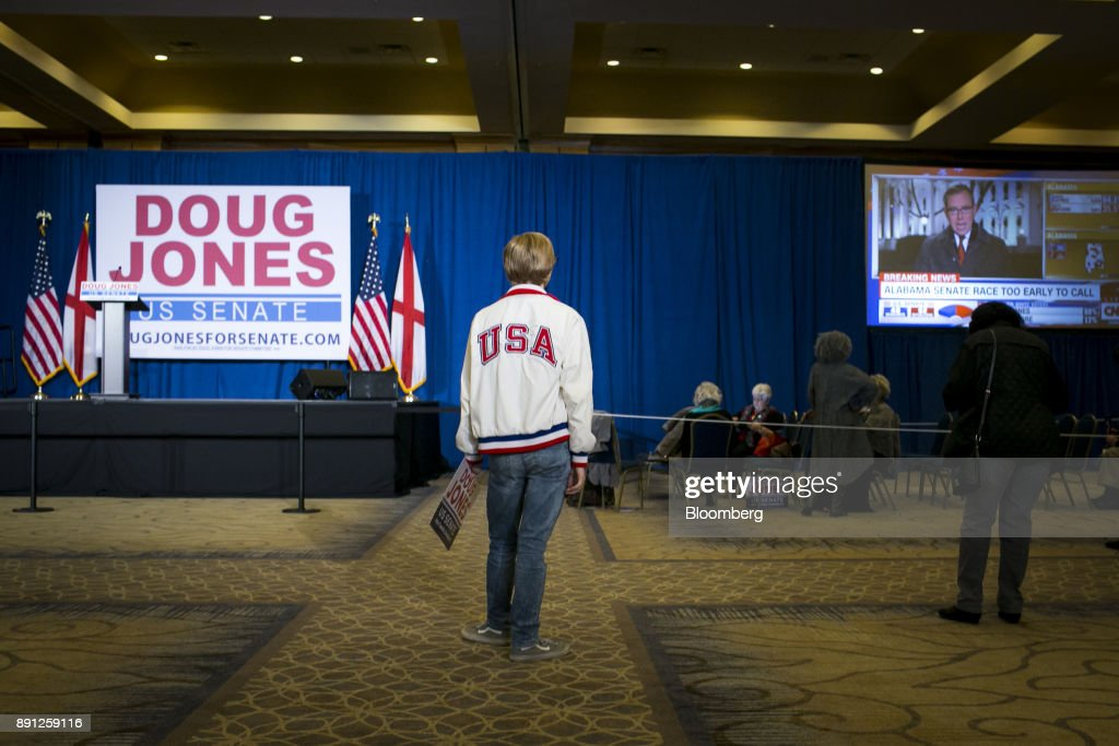Alabama Democratic Senate Candidate Doug Jones Holds Election Night Party