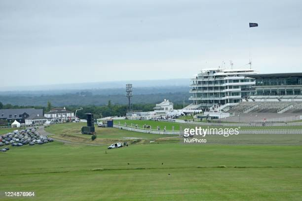 An empty Queens Stand Epsom Downs witness to the 241st Epsom Derby which was postponed on June 6th and was contested by closed doors due to the...