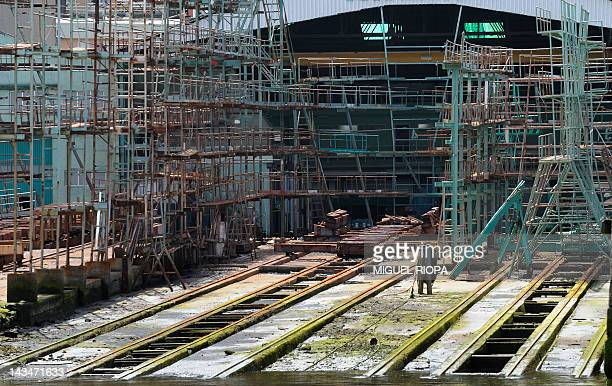 An empty shipyard in Vigo due to a loss of orders on April 27, 2012. Spain's jobless rate soared to a record 24.4 percent in a deepening recession in...
