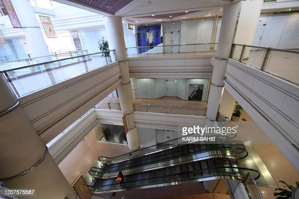An empty shopping mall is pictured on March 18 2020 in Dubai amidst the coronavirus COVID19 pandemic