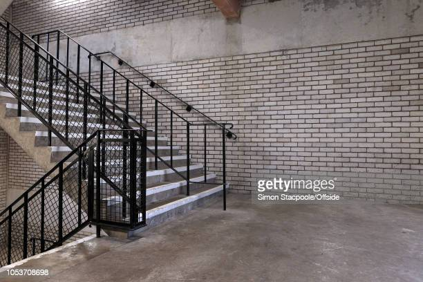 An empty stairwell in the ageing main stand seen ahead of the Premier League match between Everton and Crystal Palace at Goodison Park on October 21,...