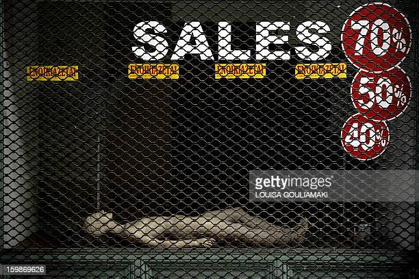 An empty storefront with rental signs and a manekin are pictured in central Athens on January 22 2013 Entering a sixth year straight of recession the...