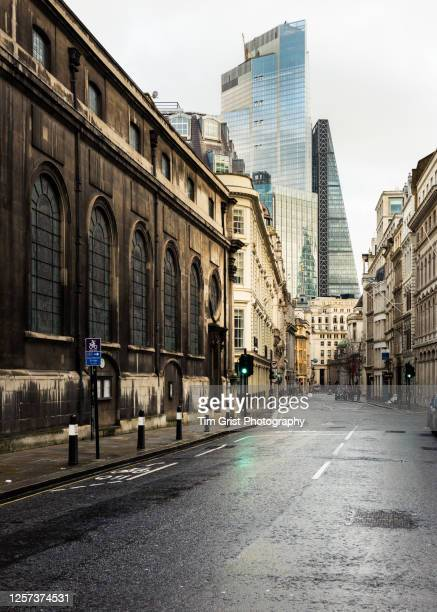 an empty street in the city of london - absence stock pictures, royalty-free photos & images