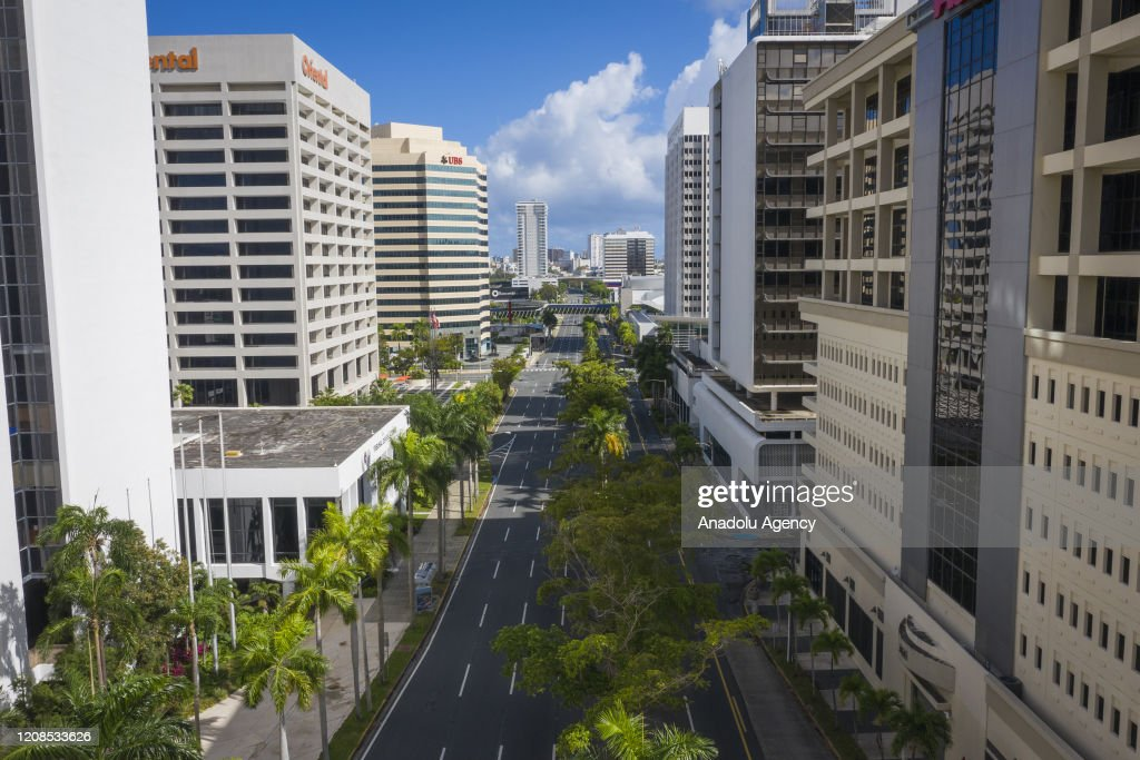 An empty street on the financial district in San Juan, Puerto Rico,... News  Photo - Getty Images