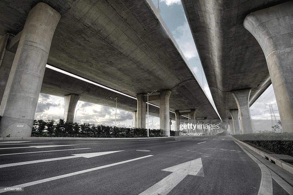 An empty street : Stock Photo