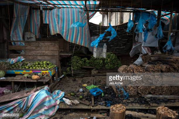 An empty street that shows evidence of gunfights and of people hastily leaving their belongings on May 28 2017 in Marawi city southern Philippines...