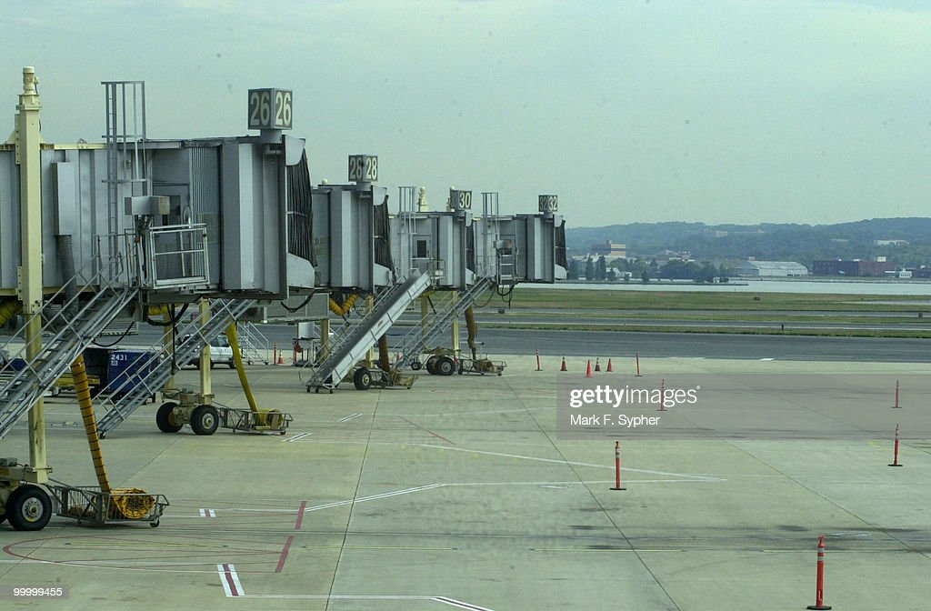 An empty tarmac at Regan National Airport, Tuesday September 17, 2001.
