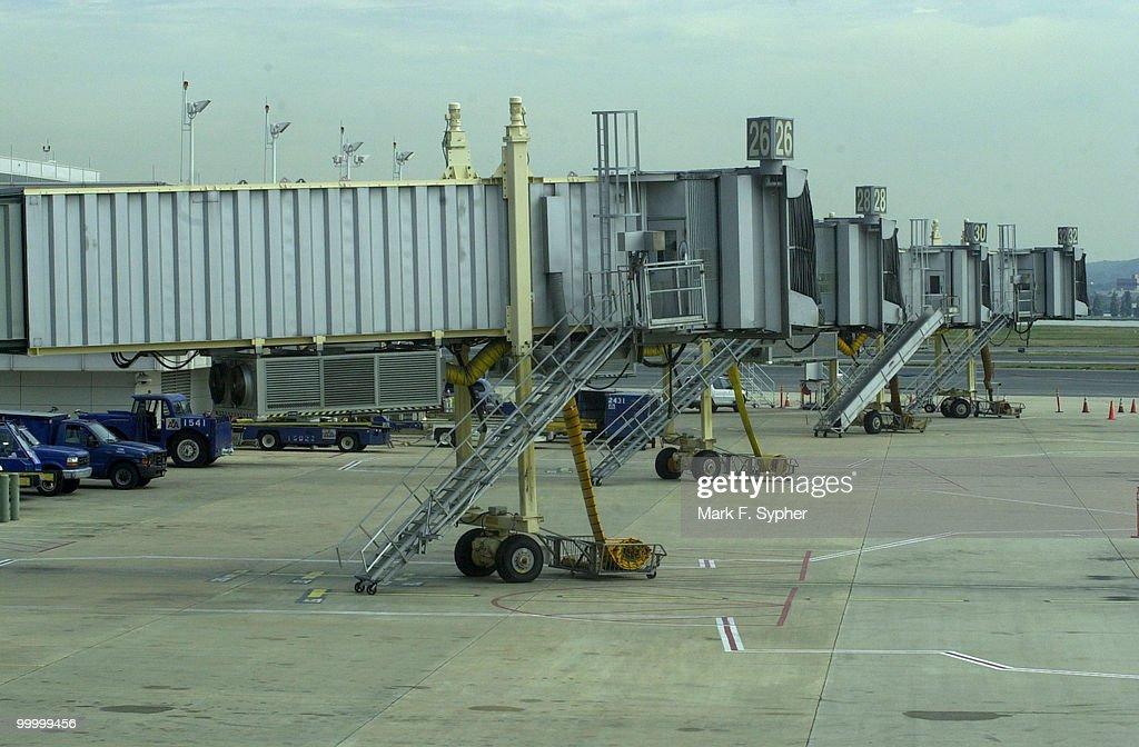 An empty tarmac at Regan National Airport, Tuesday September 17, 2001.