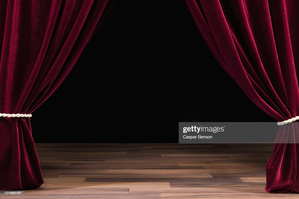 An Empty Theatre Stage Stock Photo