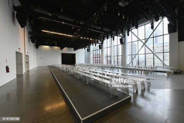An empty view of Gallery I during New York Fashion Week The Shows at Spring Studios on February 14 2018 in New York City