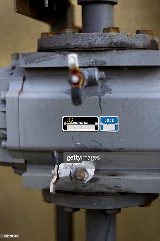 An Enbridge Inc  gas meter is seen in Toronto, Ontario