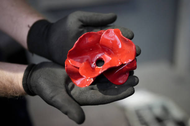 GBR: Poppy Artwork Commemorating WWI Finds Permanent Home At IWM North