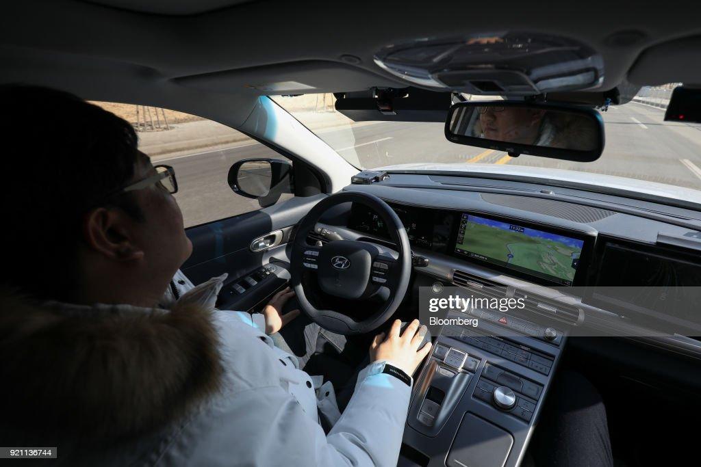 Hyundai Motor Co. Autonomous Nexo Vehicle Test Drive