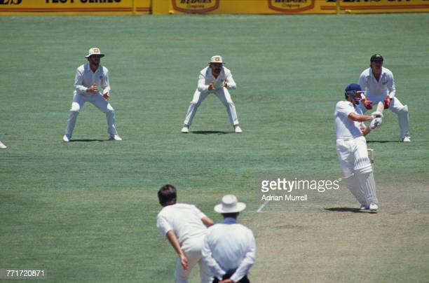 An England innings in progress at Brisbane Cricket Ground during the 1st Test on England's tour of Australia Woolloongabba Brisbane 14th 19th...