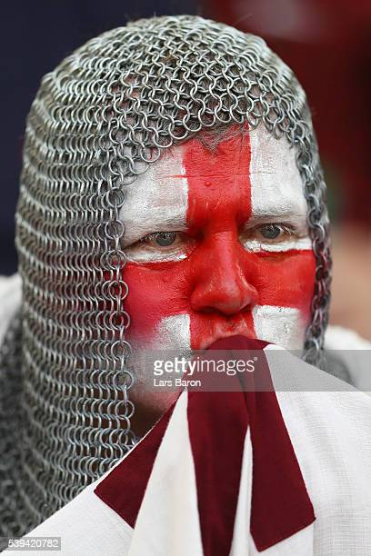 An England supporter looks on prior to the UEFA EURO 2016 Group B match between England and Russia at Stade Velodrome on June 11, 2016 in Marseille,...