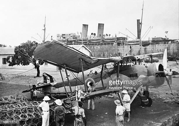 An English Bomber Plane Was Recovered Near Traroya And Brought To The Arsenal In Dakar On September 25 1940